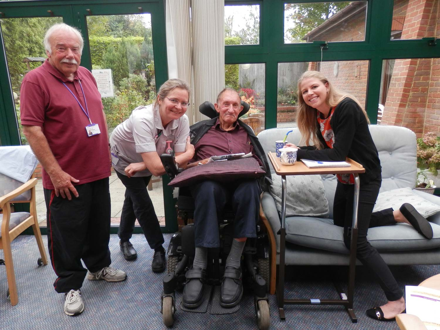 Emma, on the right, found the Woking Hospice a warm and welcoming place.